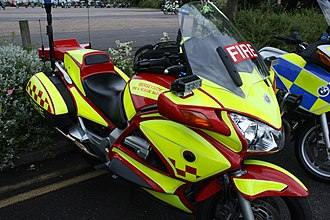 Motorcycles in the United Kingdom fire services - The Merseyside Fire and Rescue Service fire bike