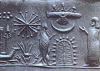 Ancient astronauts - Ancient astronauts proponents suggest that aliens came to Earth long ago, citing artifacts such as this ancient Mesopotamian cylinder seal.