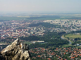 Nitra - Whole view of Nitra from Zobor