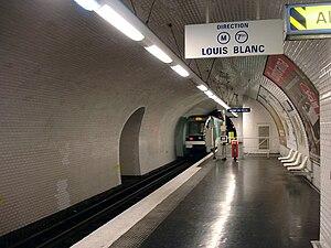 Botzaris (Paris Métro) - Image: Metro de Paris Ligne 7bis Botzaris 02
