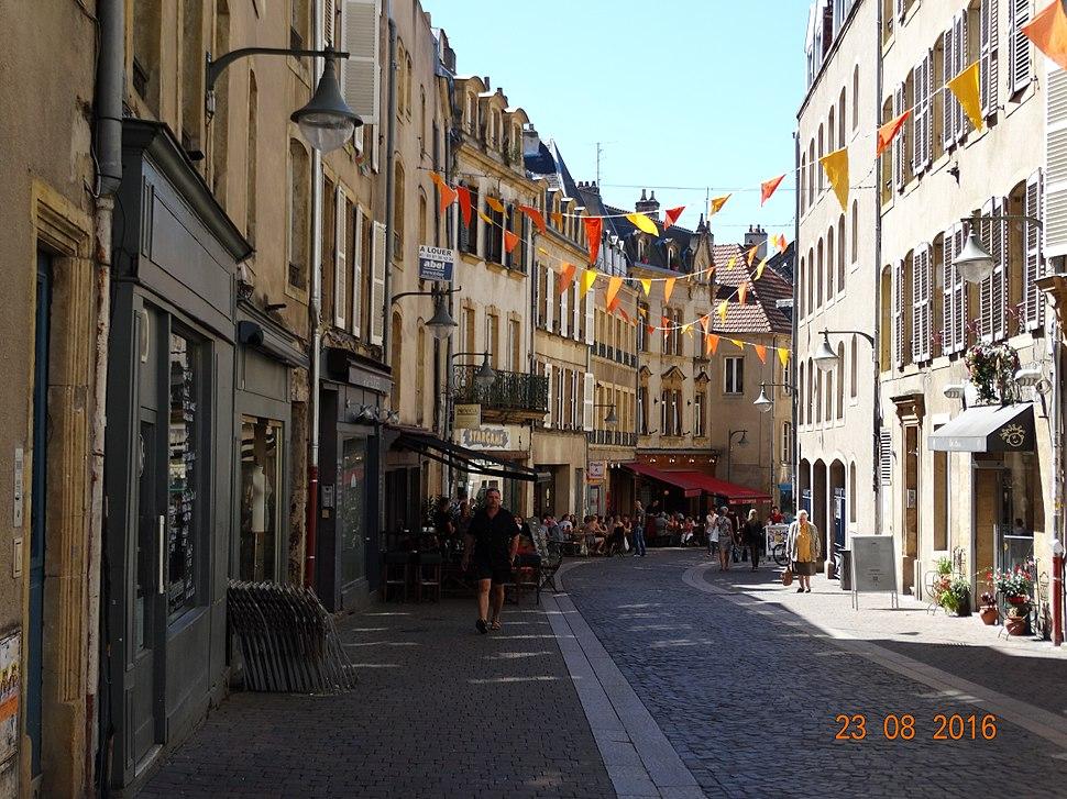 Metz, street in old city