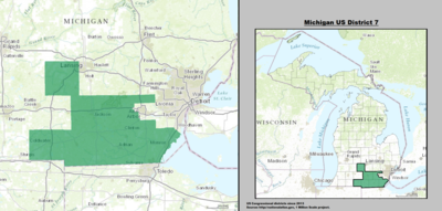 Michigan's 7th congressional district - since January 3, 2013.