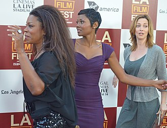 Lorraine Toussaint - Toussaint with Emayatzy Corinealdi and Sharon Lawrence at a promotional event for Middle of Nowhere in 2012