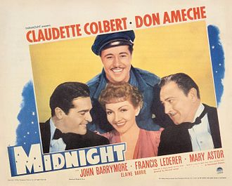 Midnight (1939 film) - Theatrical release poster
