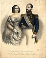 Miguel I and Adelaide of Löwenstein-Wertheim-Rosenberg, titular king and queen of Portugal.jpg