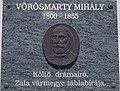 Mihály Vörösmarty plaque, Vörösmarty Mihály Street, 2020 Zalaegerszeg.jpg