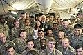 Mike and Karen Pence greets the troops in Erbil Air Base 03.jpg