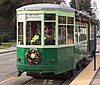 Milan Peter Witt streetcar 2001 at Civic Center stn on the light rail line in San Jose, Dec 2017 (cropped).jpg