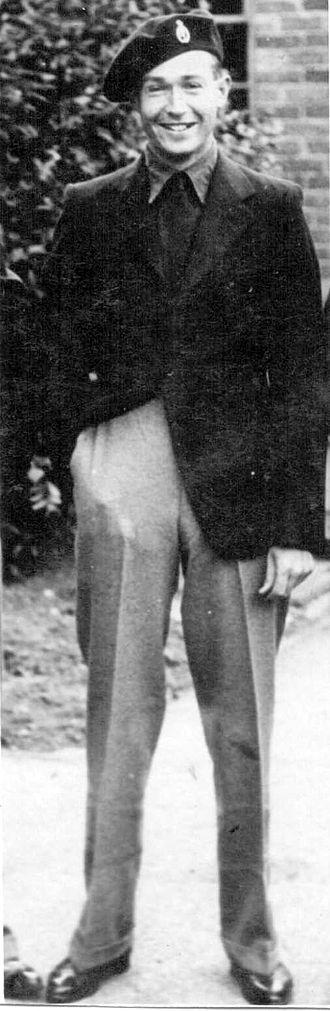 Militia (United Kingdom) - John Lucas Matthews (1918-1992) in Militia Walking Out Uniform 1939.