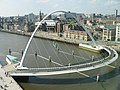 Millennium Bridge and Quayside from The Baltic - geograph.org.uk - 677250.jpg