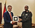 Minishter of Intelligence of Israel Eli Cohen and President of Sudan Abdel Fattah al-Burhan.jpg