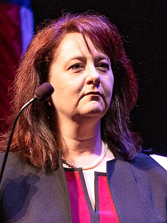 Julie Blaha - Image: Minnesota State Auditor Julie Blaha is sworn in at the Fitzgerald Theater, St Paul MN (cropped)