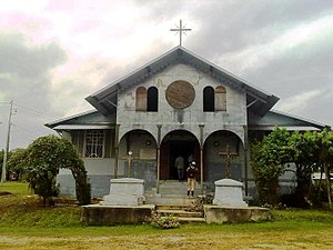 Religion in Gabon - Christianity is the largest religion in Gabon. A Catholic church at Donguila à Ntoum