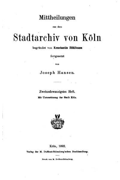 File:Mitteilungen aus dem Stadtarchiv von Köln 1892-22.djvu