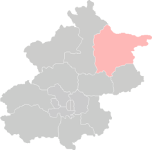 Location of Miyun County in Beijing