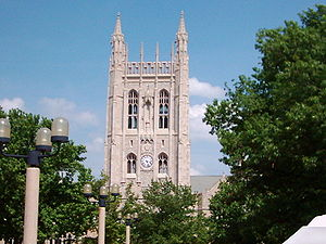 A. P. Green Chapel - The Memorial Union from the West