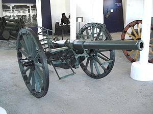 76 mm gun M1900 - 76 mm gun model 1900 in Hämeenlinna Artillery Museum, Finland