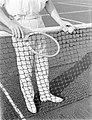 Model Sandhaus bij een tennisnet, Bestanddeelnr 252-1529.jpg