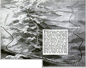 Moffat Tunnel - Benefits of construction of Moffat Tunnel as outlined in November 1922 issue of Popular Science magazine