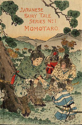 Momotarō - 1885 English Momotaro published by Hasegawa Takejirō
