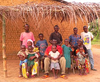 Demographics of Africa - Mongo family in the Province of Équateur, DRC