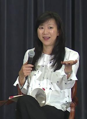 Monica Youn - Youn, speaking in 2016