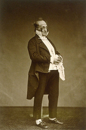 Henry Monnier - Henry Monnier playing the part of Monsieur Prudhomme (c. 1875), photograph by Étienne Carjat