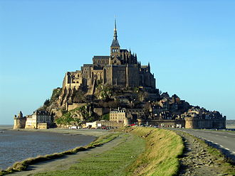 Tidal island - Mont Saint-Michel in Normandy