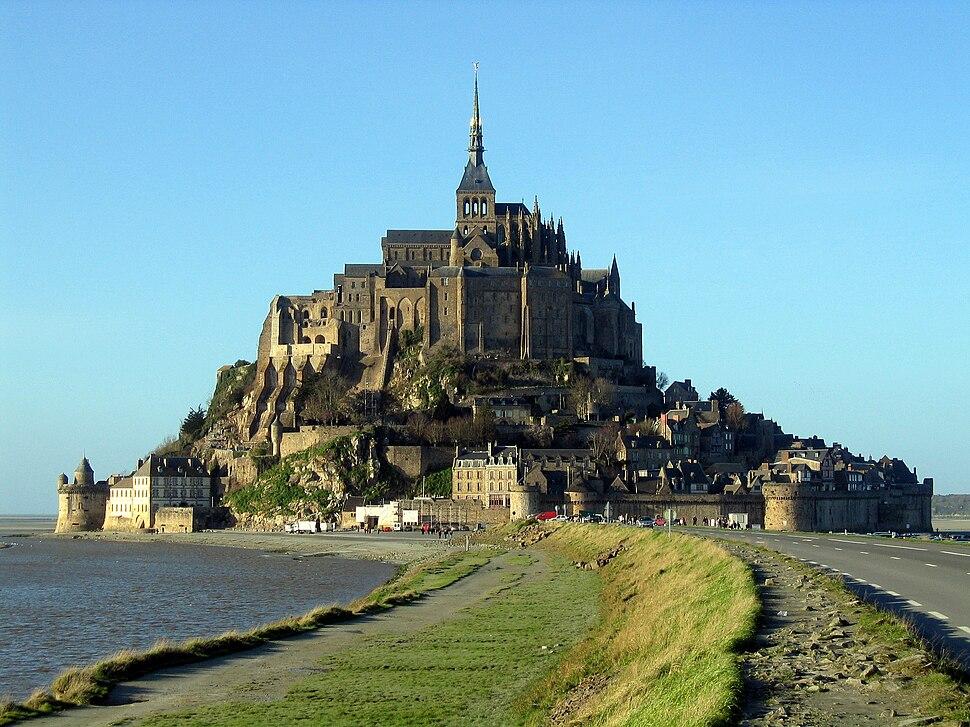 Mont Saint-Michel en gros plan