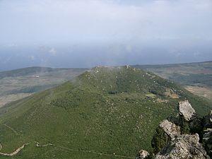 Monte Gibelè seen from the Montagna Grande