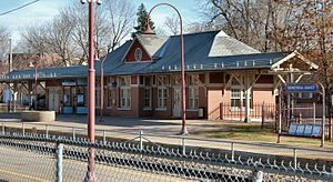 Montréal-Ouest station - Image: Montreal West AMT Train Station