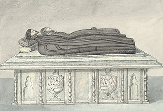 Richard Onslow (Solicitor General) - Monument of Richard Onslow in old St. Chad's Church, Shrewsbury, drawn 1796