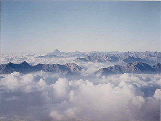 Cottian Alps - Monte Viso in the Cottian Alps, seen from the Rocciamelone