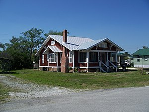 National Register of Historic Places listings in Glades County, Florida - Image: Moore Haven FL Residential HD01