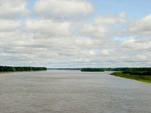 Moose River (Ontario) - Moose River as seen from the ONR railway bridge