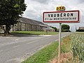 Mortefontaine (Aisne) city limit sign Vaubéron.JPG