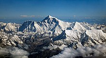 Monte Everest, Tibete, na fronteira China-Nepal.