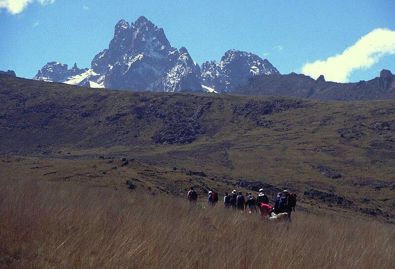 File:Mount Kenya trecking to the peak.jpg