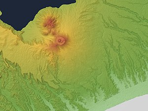 Mount Tarumae - Image: Mount Tarumae Relief Map, SRTM 1