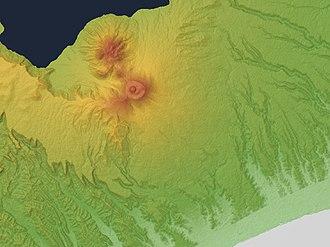 Mount Tarumae - Image: Mount Tarumae Relief Map, SRTM 1
