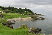 A View of Moville's Green and Lough Foyle coast.