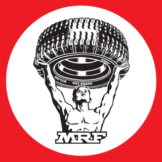 MRF (company) Indian company manufacturing tyres etc.