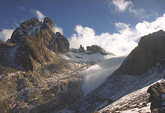 Mount Kenya - The Lewis glacier is the largest on Mount Kenya