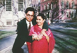 Munier Choudhury - Choudhury with his wife Lily (1957)