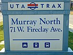 Murray North station street sign, Aug 16.jpg