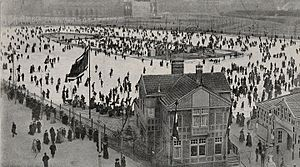 Ice rink - Ice rink in Amsterdam c. 1900, from the Amsterdam City Archives