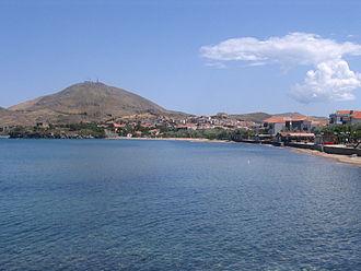 Myrina, Greece - View of the beach.