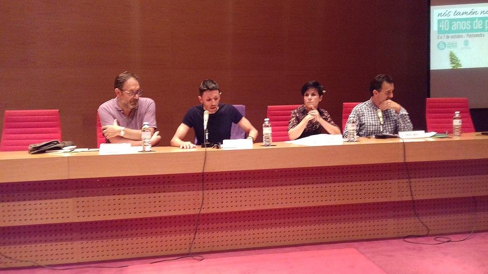 Nós tamén navegar Antonio Reigosa, Afonso Becerra, Silvia Penas e Miguel Sande