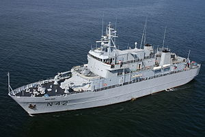Lithuanian Armed Forces - Lithuanian Naval Force Vidar class ship N42 Jotvingis