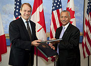 NASA Administrator Charles Bolden and Canadian Space Agency President Steve MacLean